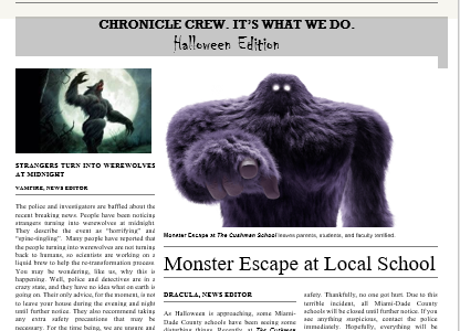 The Cushman Chronicle's Halloween Edition