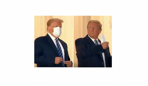 President Trump Takes His Mask Off in the White House